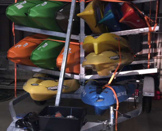 Kayaks on Trailer