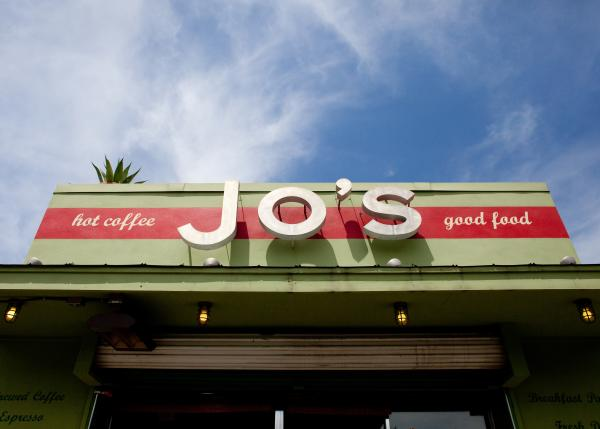 Jos Coffee Shop Sign on South Congress Avenue
