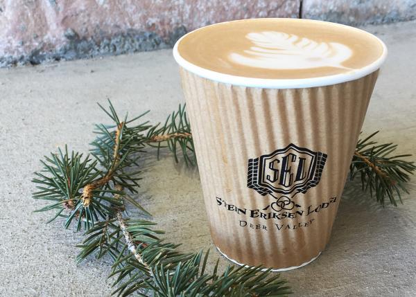 Latte from First Tracks Kaffe at Stein Eriksen Lodge