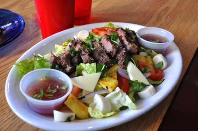 Pineapple Steak Salad- Lucy's Brazilian Kitchen
