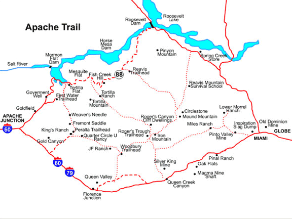 apache trail map mesa arizona maps mesa az