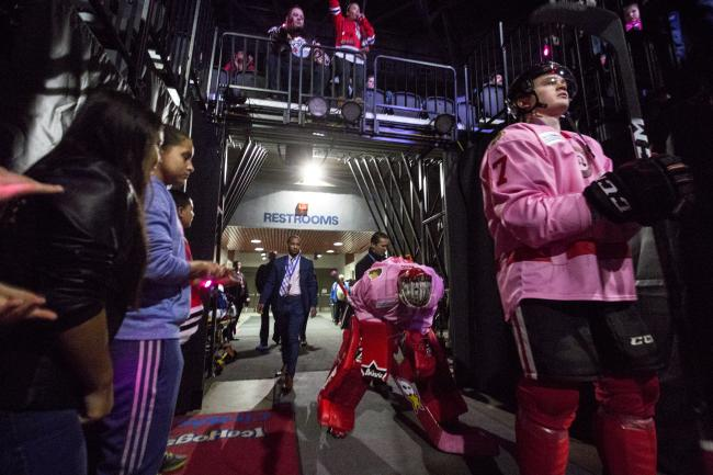 Rockford IceHogs tunnel