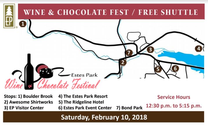 Shuttle Schedule 2018 Wine & Chocolate Fest