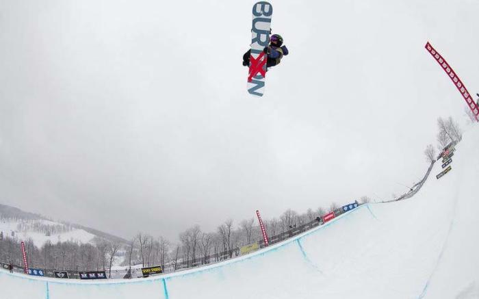Seven Springs is home to the East Coast's Only Olympic-Size Halfpipe