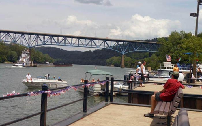 Brownsville Riverside Wharf, Monongahela River