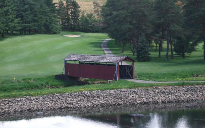 One of Several Covered Bridges on Our Course