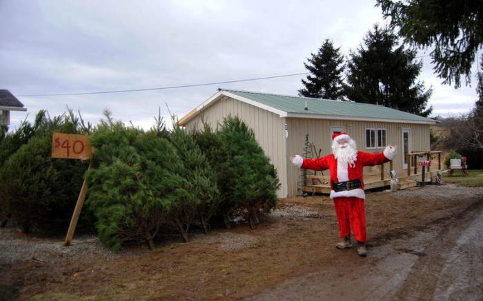 Santa at his shop