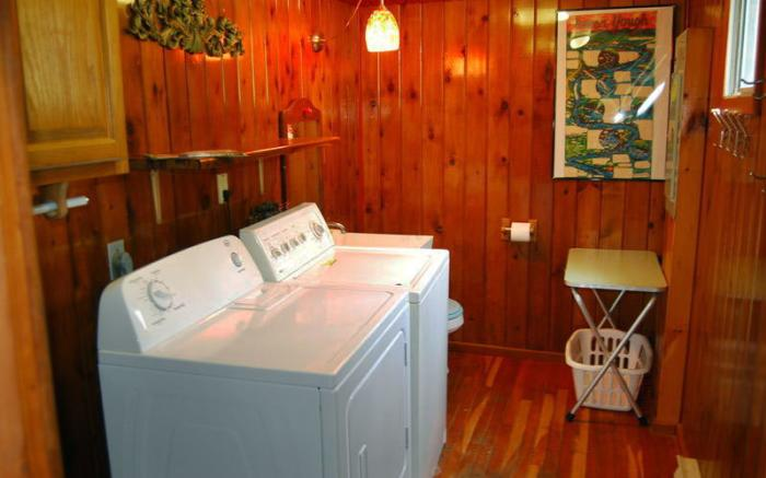 Half bath with laundry