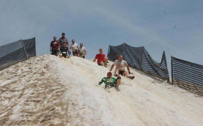 Mt. Everest obstacle at Seven Springs' Mud on the Mountain