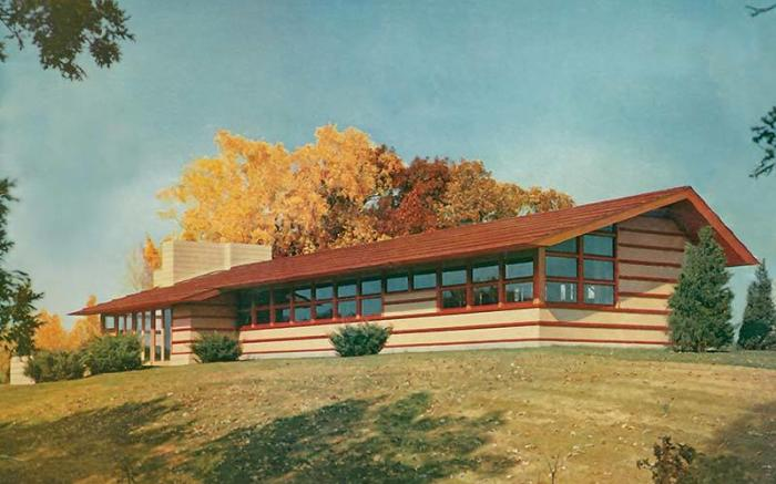 Frank Lloyd Wright's Duncan House at Polymath Park Rendering