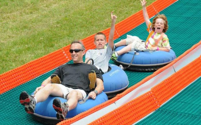 Summer tubing at Seven Springs