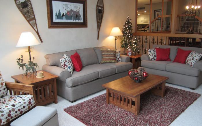 Sunken Living room with Queen Sleeper Sofa