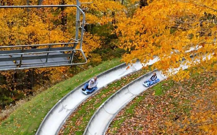 The Alpine Slide at Seven Springs' Autumnfest