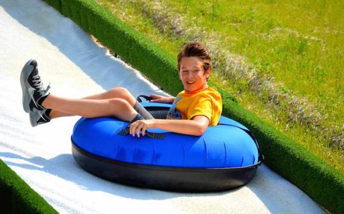 boy tubing