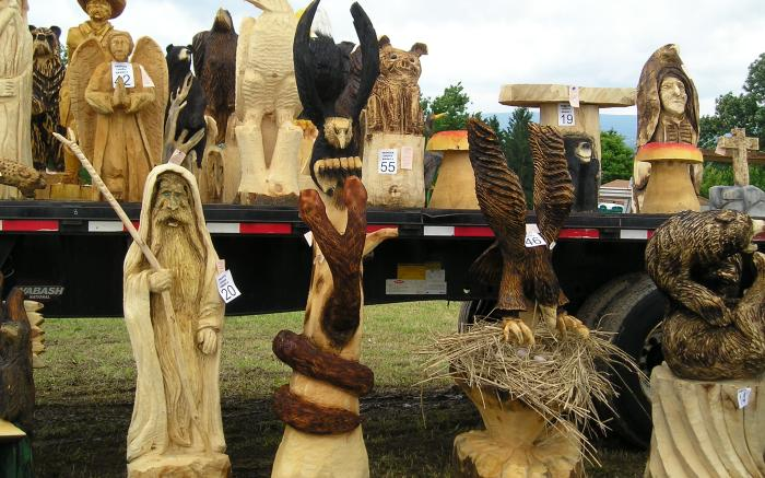 National Road Chainsaw Carving Festival