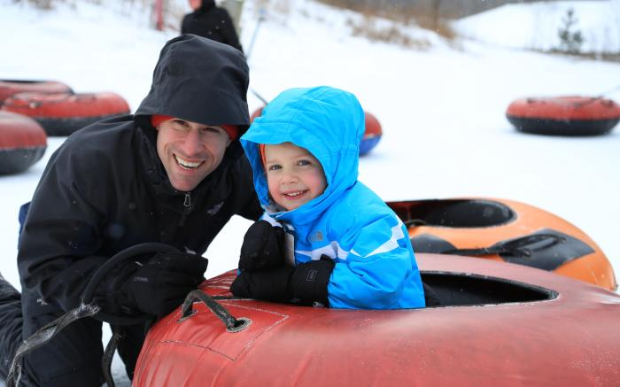 Snow tubing at Hidden Valley