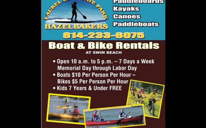 Hazelbaker's Boat & Bike Rental at Laurel Hill State Park