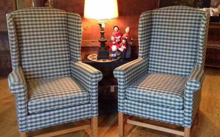 Upholestered Wing Back Chairs!
