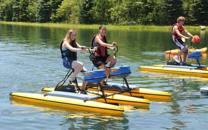 Hydrobikes on Lake Tahoe at Seven Springs