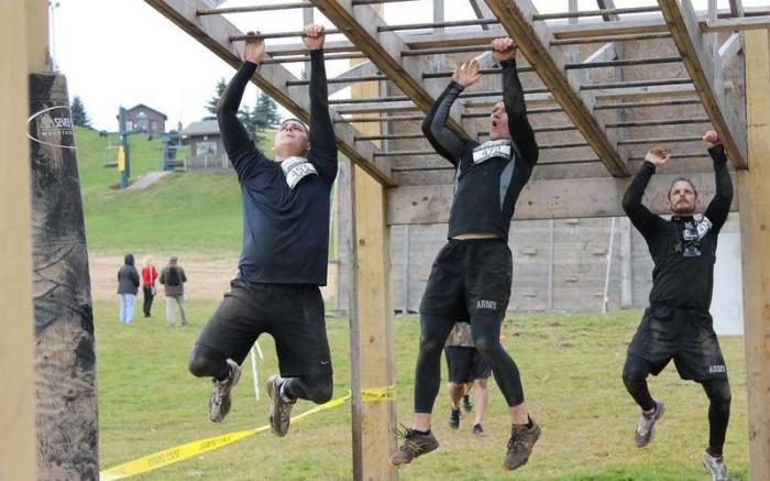 Hangover obstacle at Mud on the Mountain