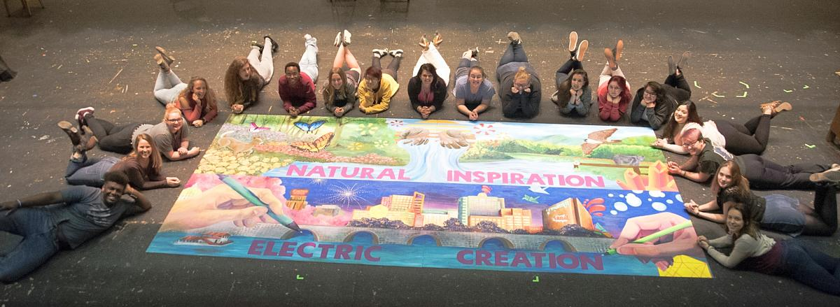 Art Sparks - PA Turnpike Art Mural & Lower Dauphin Art Students 2017