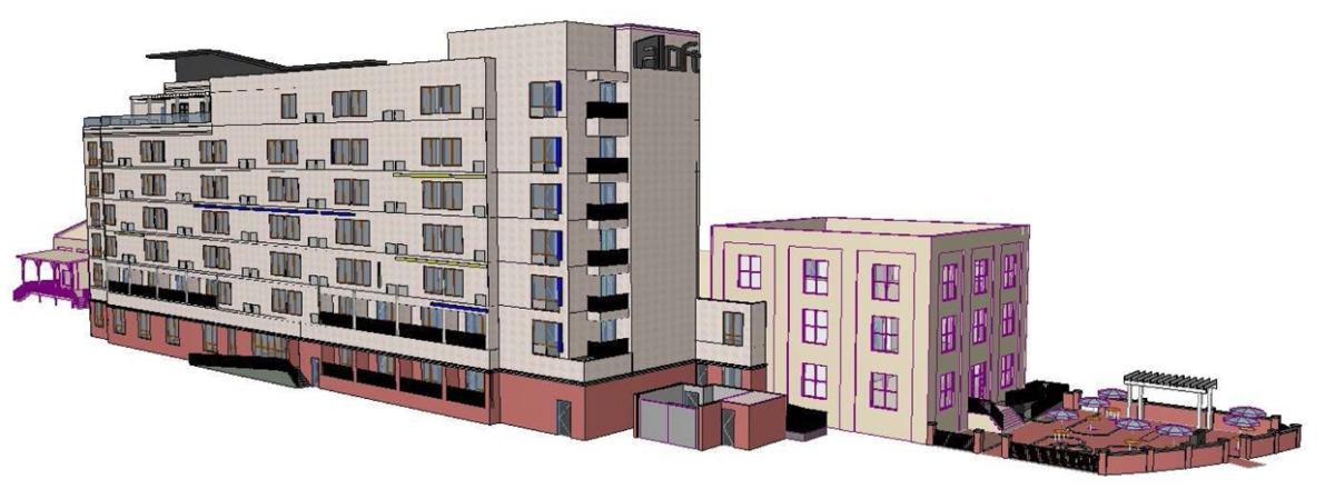 Aloft Hotel artist rendering
