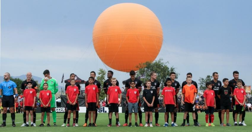 Children with the OC Soccer Club