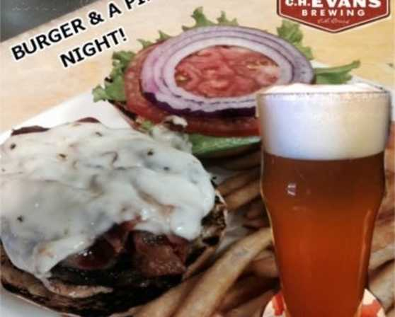 Burger and a pint