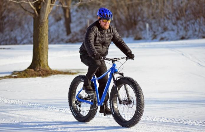 Fat-tire biking at Indian Trails Golf Course 3