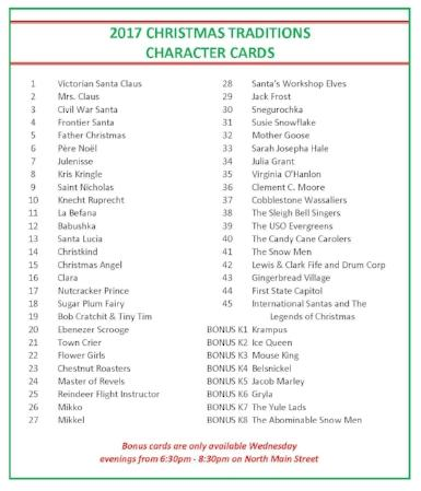 Copy of 2017 Christmas Traditions Character Card List