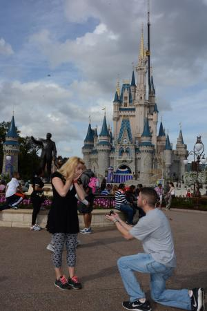 Rose & Matt engagement at Disney World