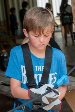 Child on Adventure Park at ZipZone