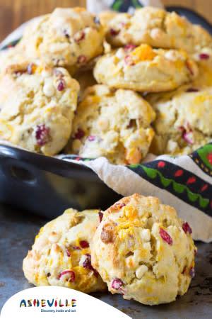 Cranberry and Roasted Sweet Potato Scones  #Recipe | ExploreAsheville.com