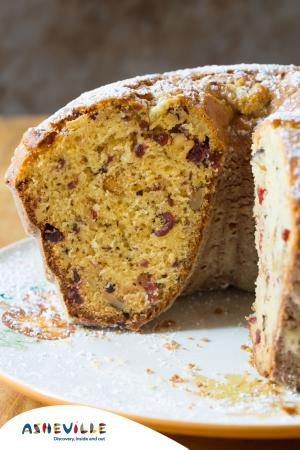 Cranberry Walnut Cake #Recipe | ExploreAsheville.com
