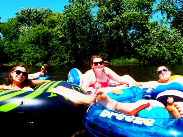 Floating in Eau Claire, Wisconsin