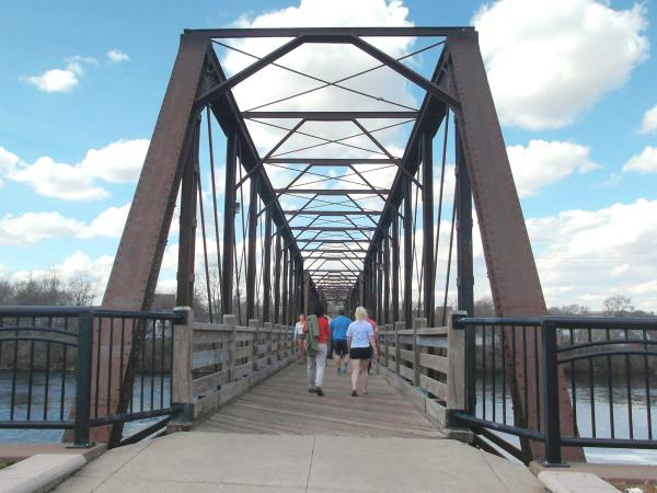 Phoenix Park Walking Bridge in Eau Claire, Wisconsin