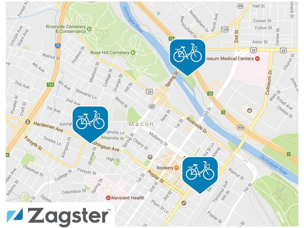 Zagster Digital Map