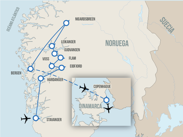 Fiordos con Copenhague Different roads