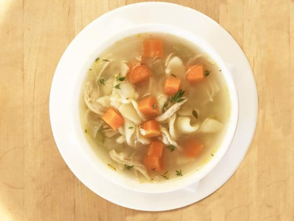 Bowl of Chicken Noodle Soup from Vinaigrette