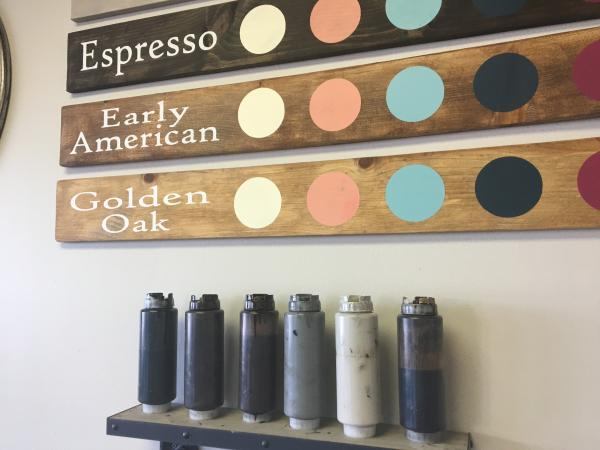 Stain and paint selections at Stain & Stencil