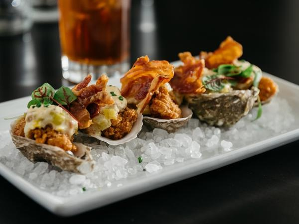 Oyster dish at Steam Restaurant and Bar