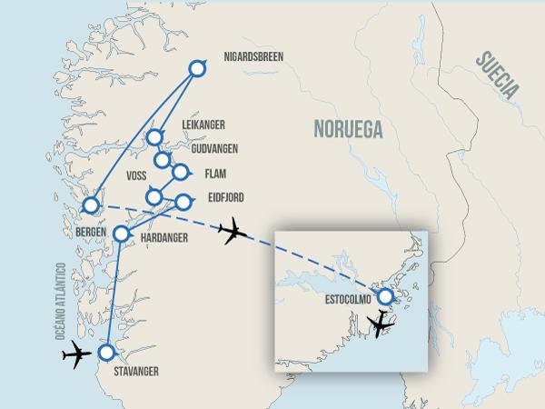 Fiordos con Estocolmo
