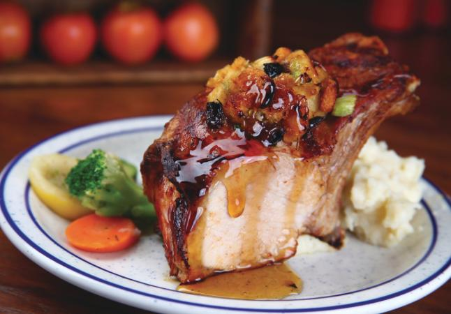Our Famous Roasted Stuffed Iowa Chop