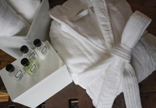 Plush robe and Beekman 1802 amenities
