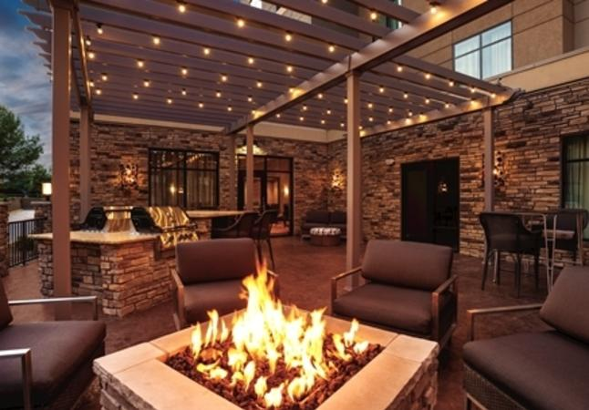 Outdoor Patio with Fire Pit and Gas Grill Tops