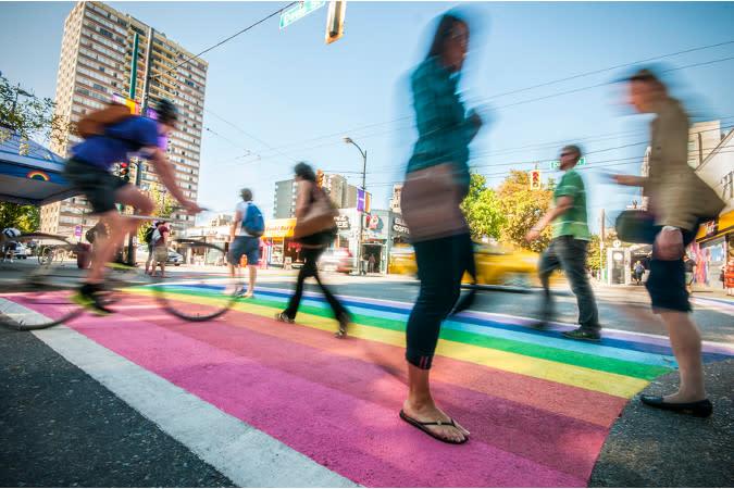 Davie Village   Rainbow Crosswalk
