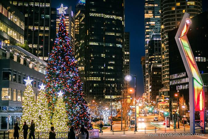 Christmas at Jack Poole Plaza