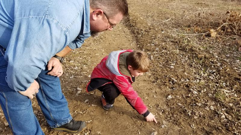 Looking for animal tracks can be a fun activity for the whole family!