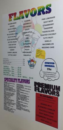Who knew there were so many shaved ice flavor options?