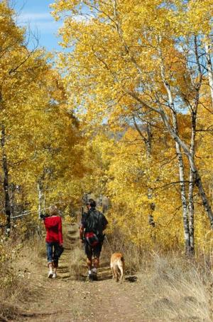 Fall hiking in Park City
